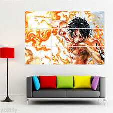 One Piece Luffy Ace Poster Giant Wall Room Decor Art 12