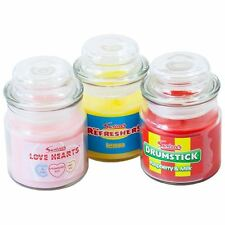 Swizzles Classic Sweet Candle Jars Pack of 3 Drumstick Love Hearts & Refreshers