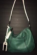 B. Makowsky Green Snakeskin Embossed Leather Hobo Bag