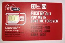 Virgin Mobile CANADA 4G LTE NFC sim card - Micro or Standard Size Combo Sim NEW