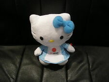 SANRIO - HELLO KITTY - 15cm PLUSH SOFT TOY - I HEART JAPAN -  BRAND NEW