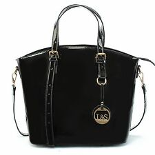 Patent Leather Design Oversize Women Handbag Tote Ladies Shoulder Bags Black