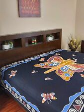 Handmade Cotton Butterfly Print Tapestry Tablecloth Spread Wall Hang 70 x 106