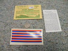 Champ  decals  HO PH-142S Amtrak stripes for passenger cars  M20