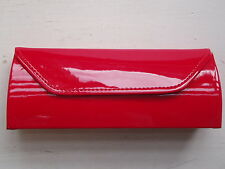 Beautiful Bright Red Patent 'JUICY' Glasses Case - NEW