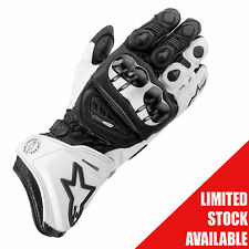 Alpinestars Gloves GP Pro Black White SIZE M WAS £169.99 NOW £119.99