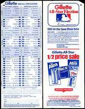 1983 MLB ALL-STAR BASEBALL GAME UNUSED BALLOT at CHICAGO WHITE SOX COMISKEY PARK