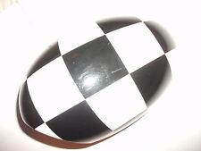 Genuina Cubierta De Espejo De Ala Exterior Mini a cuadros negro/blanco izquierda 51160415117