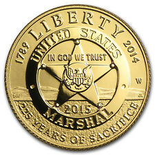 2015-W Gold $5 U.S. Marshals Service Proof (w/box & COA) - SKU #87739