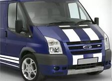 WHITE FORD TRANSIT SPORT BONNET & SIDE STRIPE KIT DECALS STICKERS GRAPHICS