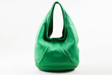 "Bottega Veneta $1780 Green Leather ""Cervo Large Hobo"" Bag"
