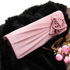 Women clutches handbag shoulder clutch bag satin rose evening party pale pink uk