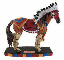 Collectable HORSE FIGURINE Statue - Pawnee Warrior - Limited Edition - NEW