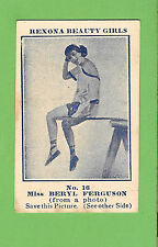 #D43.  1921 REXONA SOAP BEAUTY GIRLS CARD #16 - MISS  BERYL  FERGUSON