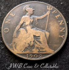 1902 Edward VII One Penny 1d Coin - Great Britain..