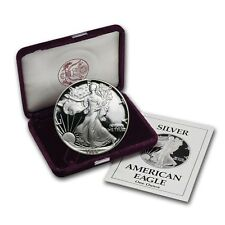 1988-S 1 oz Proof Silver American Eagle Coin - Box and Certificate - SKU #1085