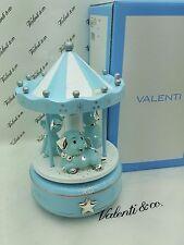 Carillon Giostra Girevole Cagnolini  Stella in Argento  Legno CELESTE | Valenti
