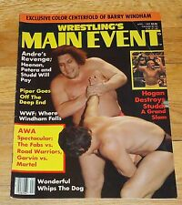 1985 Wrestling Main Event Magazine Andre Giant Barry Windham WWE NWA WWF