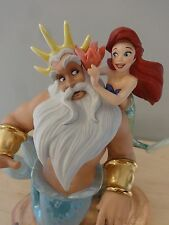 WDCC Disney Little Mermaid Triton Morning Daddy Signed by Artist LTD ED COA MIB!