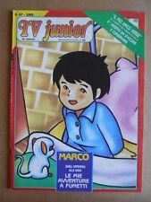 TV JUNIOR n°47  1983 Marco - 26° Zecchino D'Oro ed. ERI RAI  [G419A]
