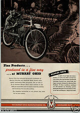 1947 PAPER AD Murray Ohio Mercury Bicycle Warehouse Factory Gong Bell Pull Toy
