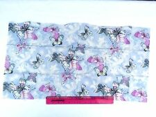 vintage,fabric,for quilting 35x70cm, 100% cotton blue pink butterflies