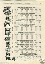 1943 PAPER AD Sasgen Winch Roofer Crab Purchase Truck Worm Gear Double Drum