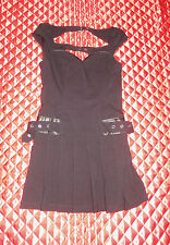 LIP SERVICE GANGSTA PRANKSTA RARE SAMPLE BLACK MINI DRESS M