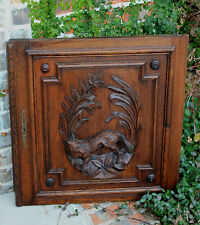 Antique French Oak Black Forest FOX Architectural Wall Panel Door FREE SHIPPING