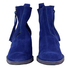 37563 auth ACNE sapphire blue suede leather PISTOL Ankle Boots Shoes 40