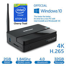 Sumvision Cyclone Mini PC2 Official Windows10 1.84Ghz 2GBRAM 32GB Bluetooth 4K