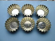 """Lot of 6 Vintage BRIOCHE MOLDS Tinned Steel 3 1/4"""" Made In WEST GERMANY Muffins"""