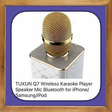Q7 Wireless Handheled Microphone with Mic Speaker Condenser Mini Karaoke Player