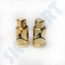 1 Pair New Jordan 6 Glossy Gold with Black Jumpman Replacement lace locks dmp