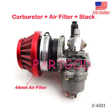 44mm Carburetor Air Filter assy Stack For 47cc 49cc ATV Dirt Pocket Bike Go Kart