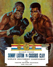 Poster of Program Cover - Cassius Clay v Sonny Liston (1964) - 8x10 Color Photo