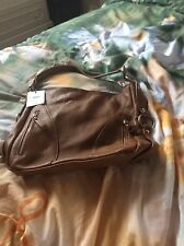 Mangotti Cognac Handbag, New With Tags