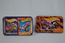 Hot Wheels Cars Playing Cards 2 Decks With Collectible Tin 2001 Mattel Complete