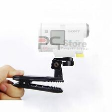 360 Degree Bag Quick Release Clip Clamp Mount for Sony Action Cam AS30V AS15V