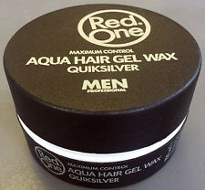 Red One Quicksilver Aqua Hair Gel Wax Indestructible Style 150ml *NEW STOCK*
