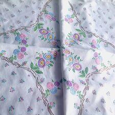 VINTAGE ricamati a mano tovaglia di lino bianco 47x48 cm