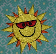 2028 Smiling Sun Vintage Iron on embroidered patch badge logo