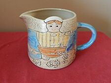 Folk Craft by Shafford Stoneware Measuring Cup Hand Painted