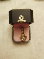 JUICY COUTURE gold toned Padlock Locket charm Value $52.00 - Charm opens!