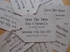 25 x PERSONALISED SAVE THE DATE RUSTIC, VINTAGE WEDDING CARD SIZED A7