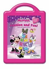 Disney Minnie Fashion and Fun: Book and Magnetic Playset Minnie Mouse NEW