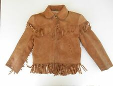 Vintage Roy Rogers Child's Leather Jacket Boy Western Cowboy Fringed