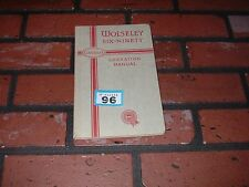 GENUINE WOLSELEY SIX NINETY DRIVERS HANDBOOK / OWNERS MANUAL.1954