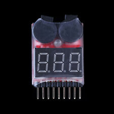 1S-8S LED RC Lipo Battery Low Voltage Alarm Buzzer Indicator Monitor Tester NEW