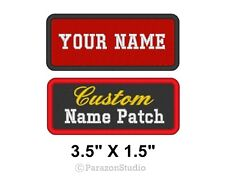 "Custom Embroidered Name Tag Patch Motorcycle Biker Badge 3.5"" x 1.5"" (A)"